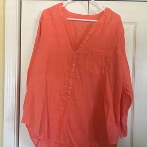 Tops - Linen/ Cotton blend shirt.